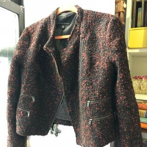 Banana Republic Red & Black Wooly Jacket Size 10